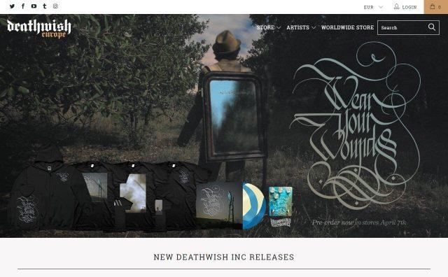 Deathwish Inc EuropeのWEBデザイン