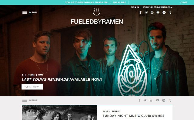 Fueled By Ramen Official Website