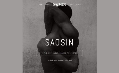 SAOSINのWEBデザイン