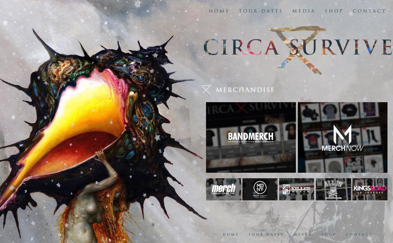 Circa SurviveのWEBデザイン