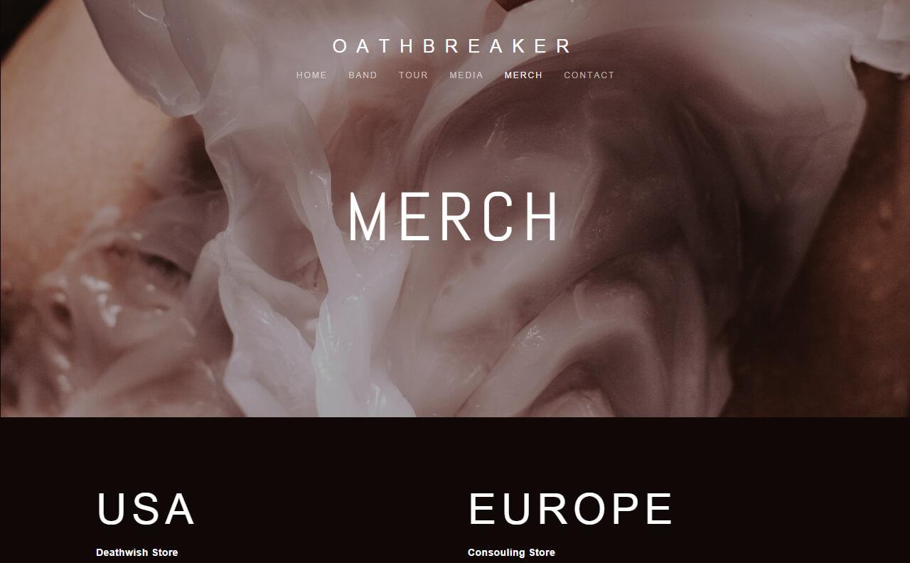 OATHBREAKERのWEBデザイン