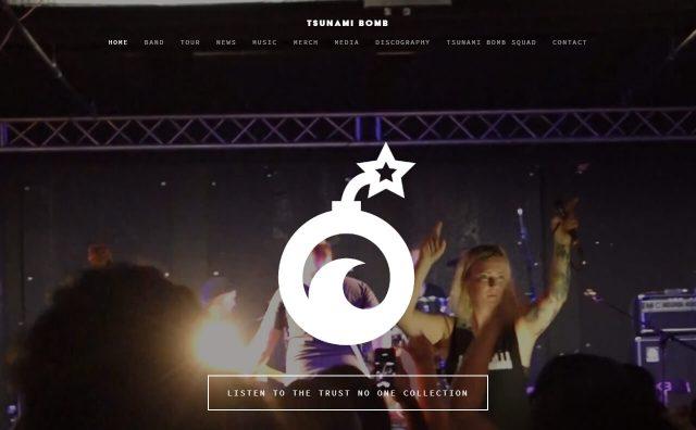 Tsunami BombのWEBデザイン