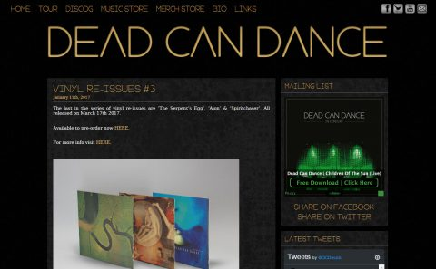 Dead Can DanceのWEBデザイン