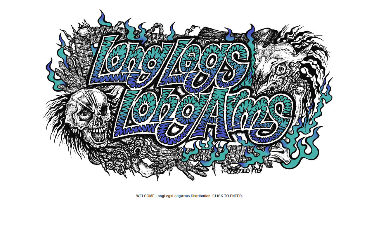 LongLegsLongArms Distribution -3LA-のWEBデザイン