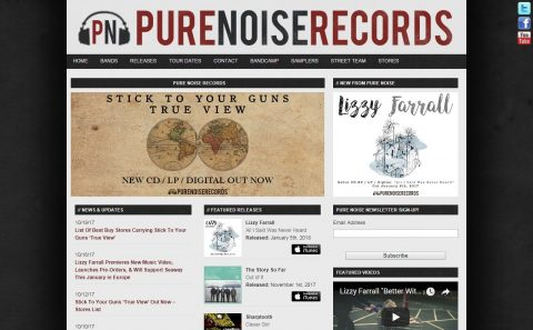 Pure Noise RecordsのWEBデザイン