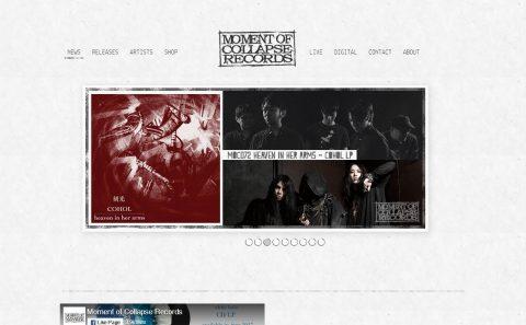 Moment Of Collapse RecordsのWEBデザイン