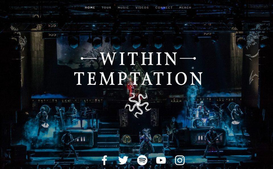 Within TemptationのWEBデザイン