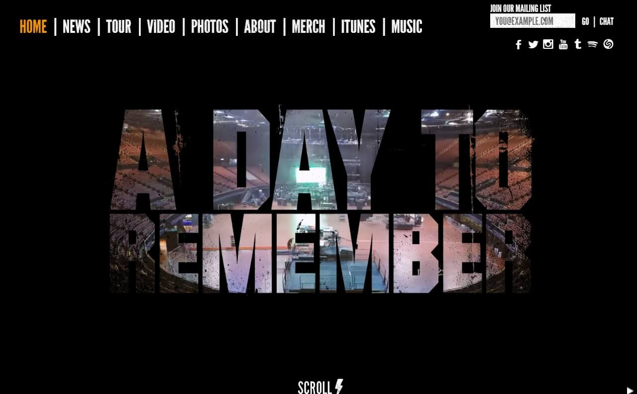 A Day To Remember | Bad Vibrations Out NowのWEBデザイン
