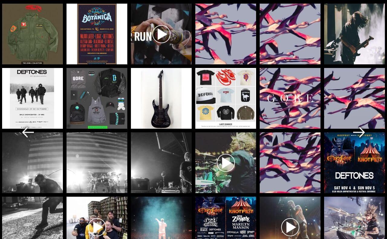 Deftones Official Site Official Website News, Store, Tour, Media, Music, ConnectのWEBデザイン