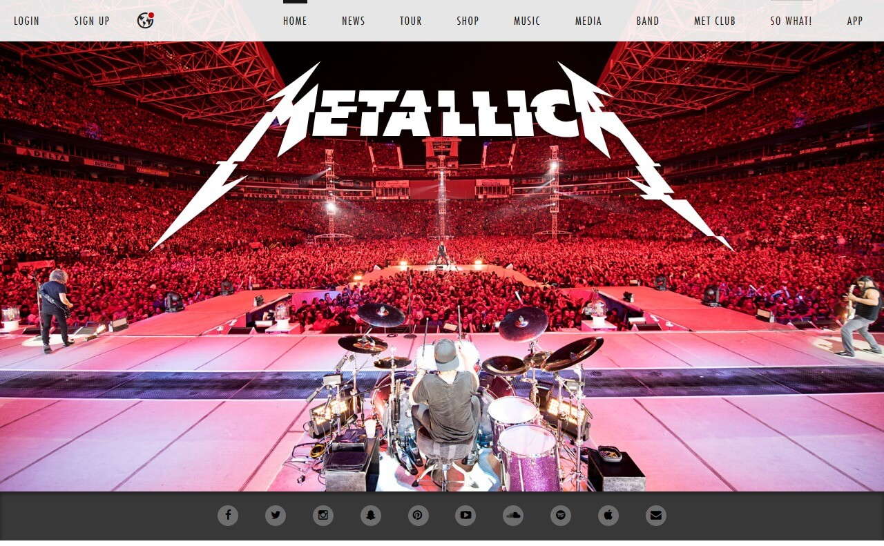 Home – MetallicaのWEBデザイン