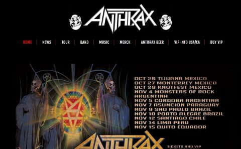 ANTHRAX | Official WebsiteのWEBデザイン