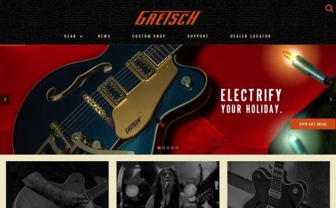 Gretsch GuitarsのWEBデザイン