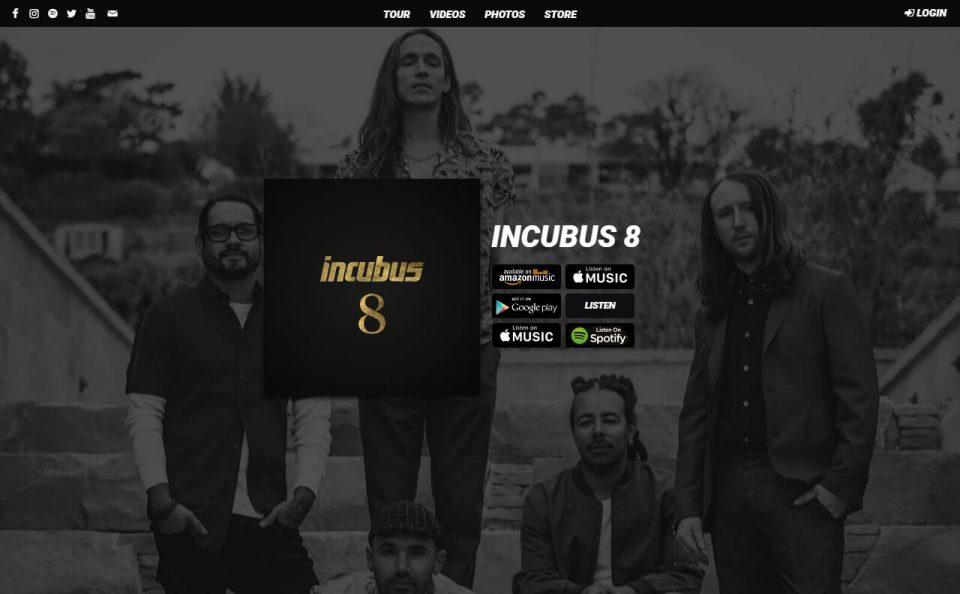 Incubus | HomeのWEBデザイン