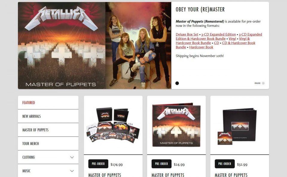 Home – MetallicaのWEBデザイン