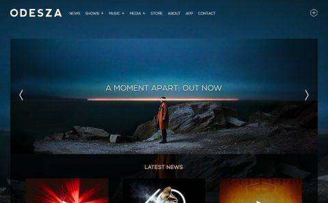 home | ODESZAのWEBデザイン