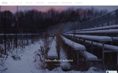 folio official websiteのWEBデザイン