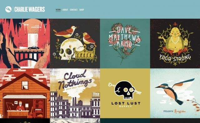 Charlie Wagers: Art & DesignのWEBデザイン
