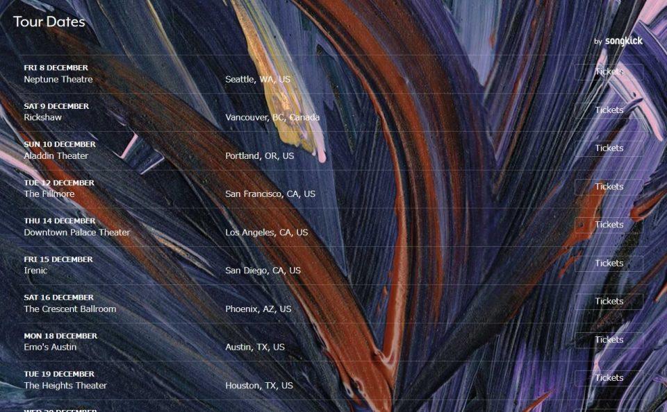 Julien Baker – 'Turn Out The Lights'のWEBデザイン