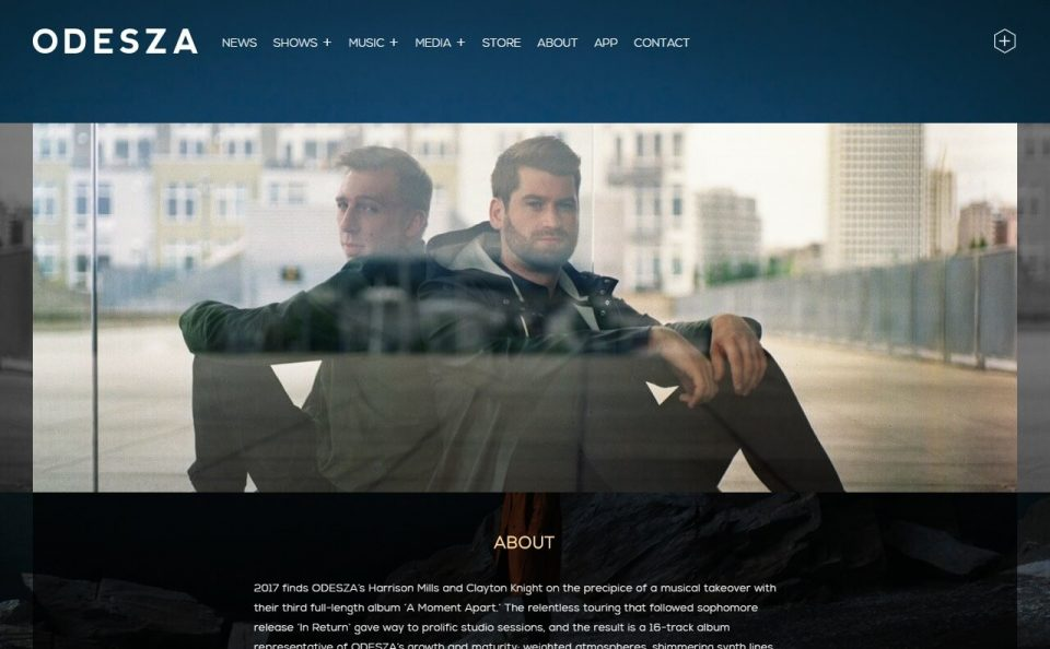 home   ODESZAのWEBデザイン