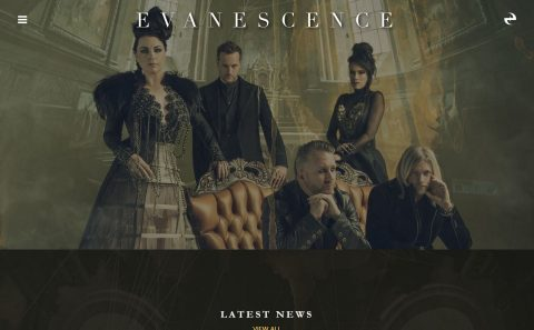 Home – EvanescenceのWEBデザイン