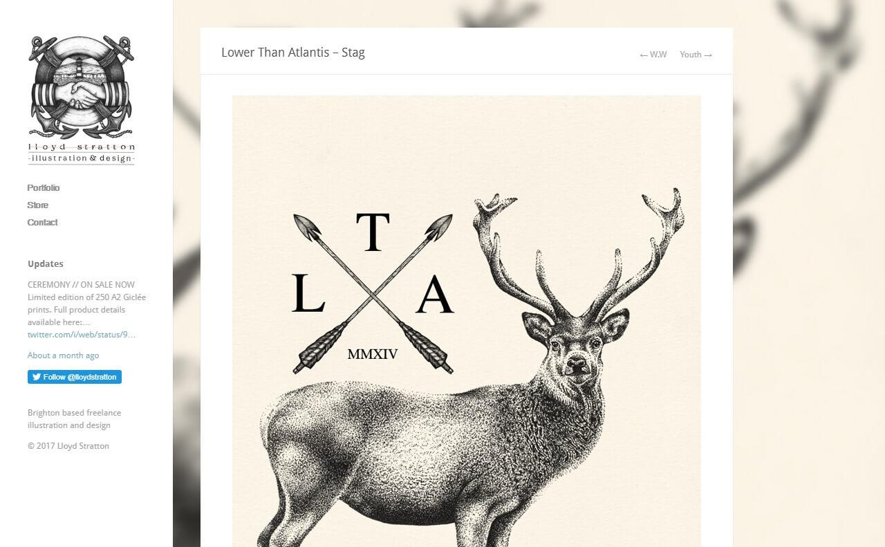 Lloyd Stratton | Freelance Illustrator | Brighton | LondonのWEBデザイン