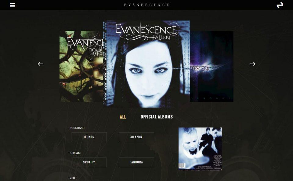 Home – EvanescenceのWEBデザイン