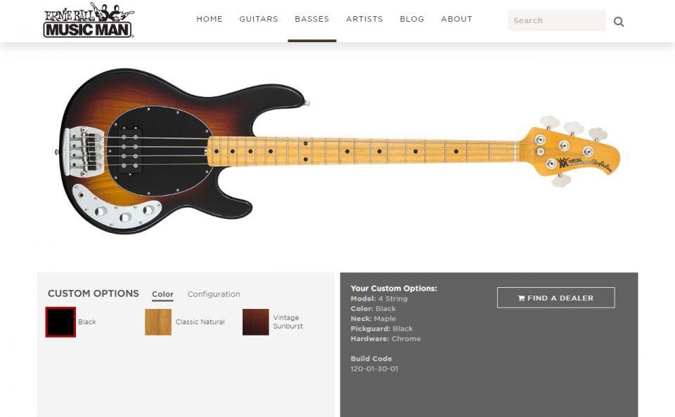 Home   Ernie Ball Music ManのWEBデザイン