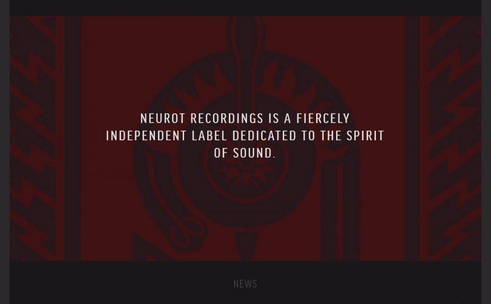 Neurot RecordingsのWEBデザイン