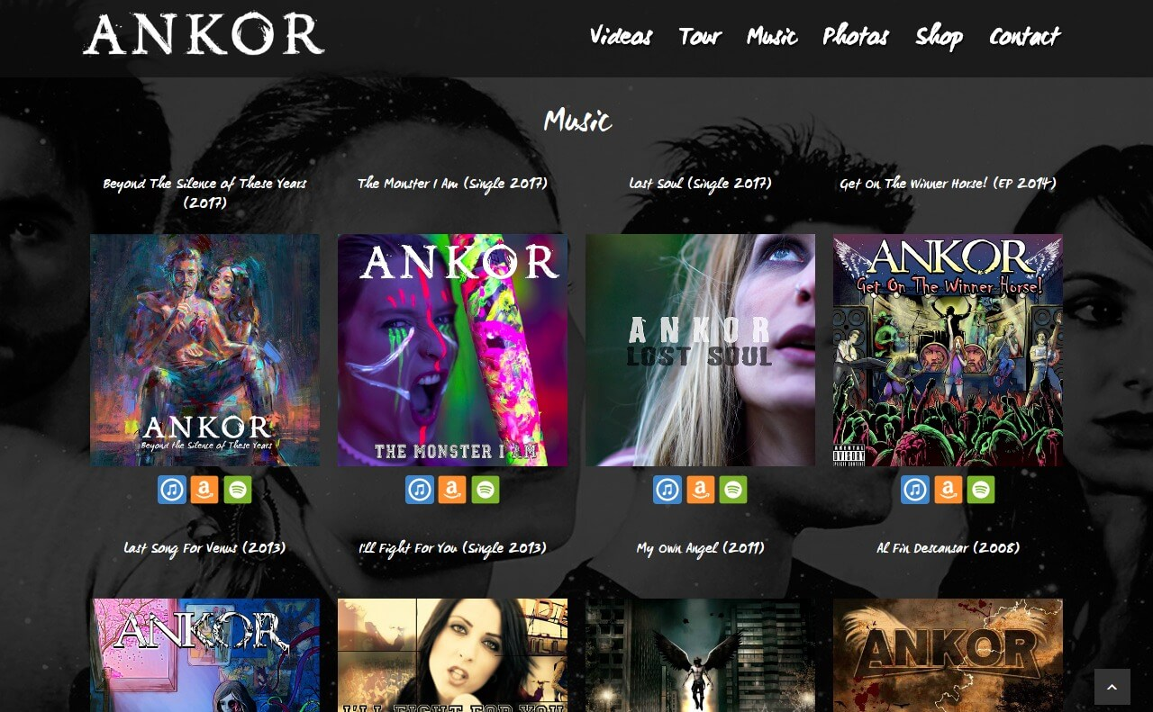 ANKOR | Official siteのWEBデザイン