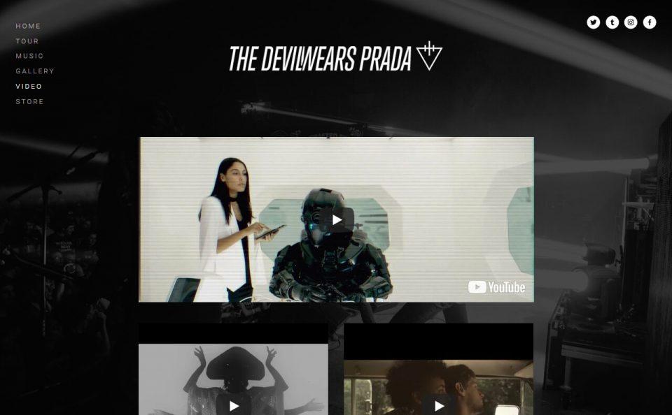The Devil Wears PradaのWEBデザイン