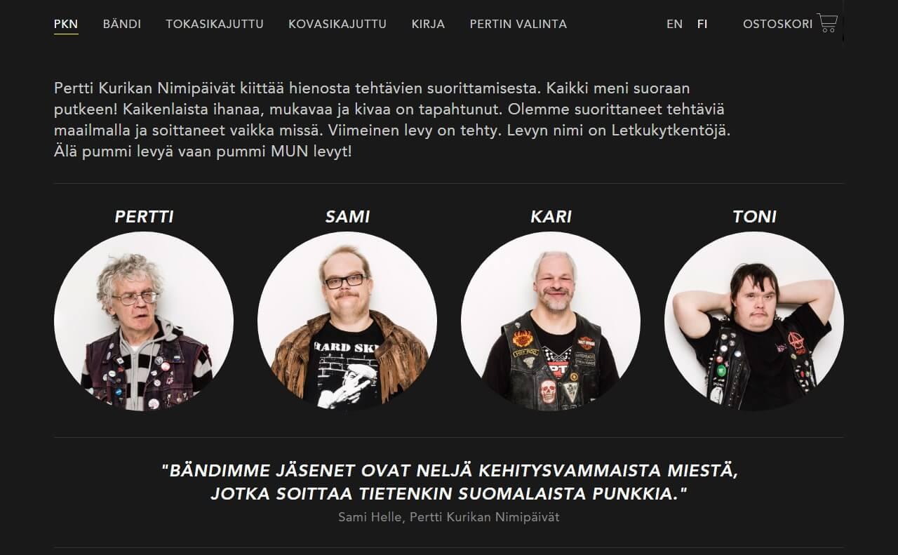 Pertti Kurikan Nimipäivät ‹ PKNのWEBデザイン