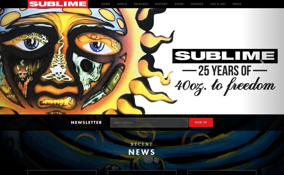 Sublime – HomeのWEBデザイン
