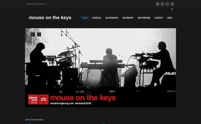 mouse on the keysのWEBデザイン