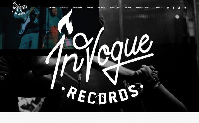 InVogue Records | Independent Record LabelのWEBデザイン