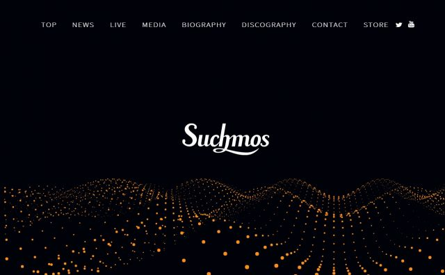 Suchmos | OFFICIALHPのWEBデザイン