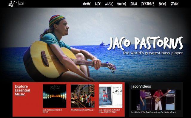 Home | Jaco PastoriusのWEBデザイン