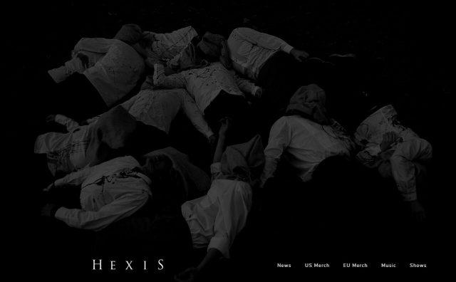 — H E X I S —のWEBデザイン