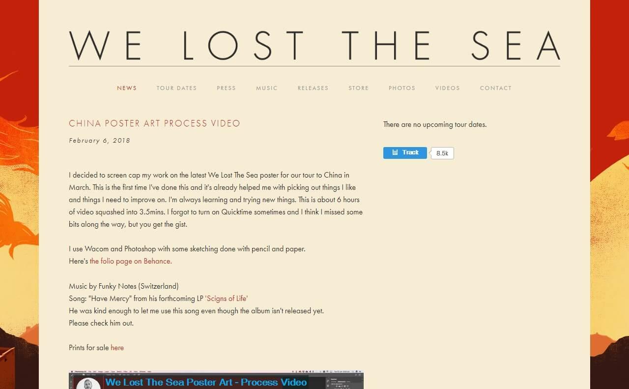 We Lost The SeaのWEBデザイン