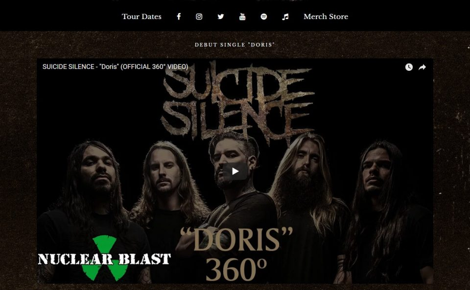 Suicide SilenceのWEBデザイン