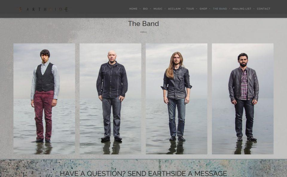 EarthsideのWEBデザイン