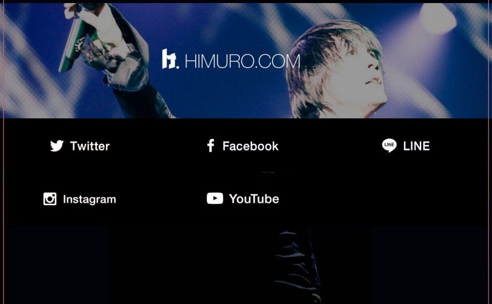 氷室京介|KYOSUKE HIMURO LAST GIGS Special Site|Warner Music JapanのWEBデザイン