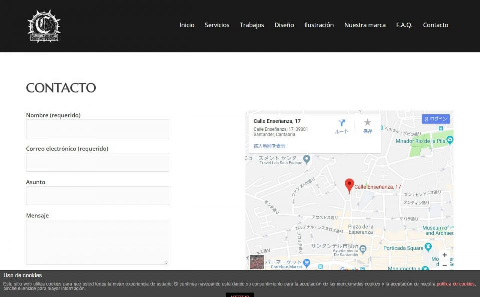 Camigraphic Lab – Taller de Serigrafía y diseño en Santander, CantabriaのWEBデザイン
