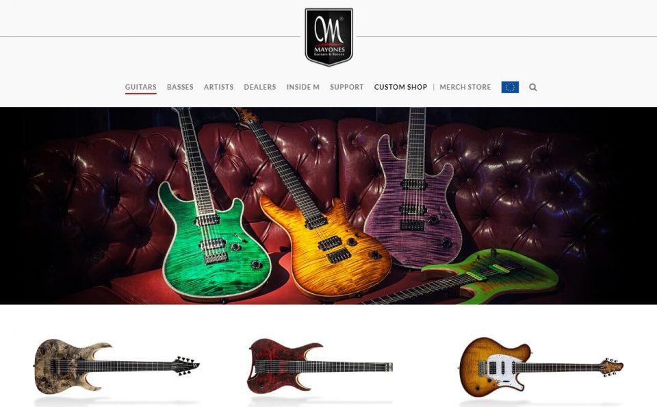 Mayones Guitars & BassesのWEBデザイン