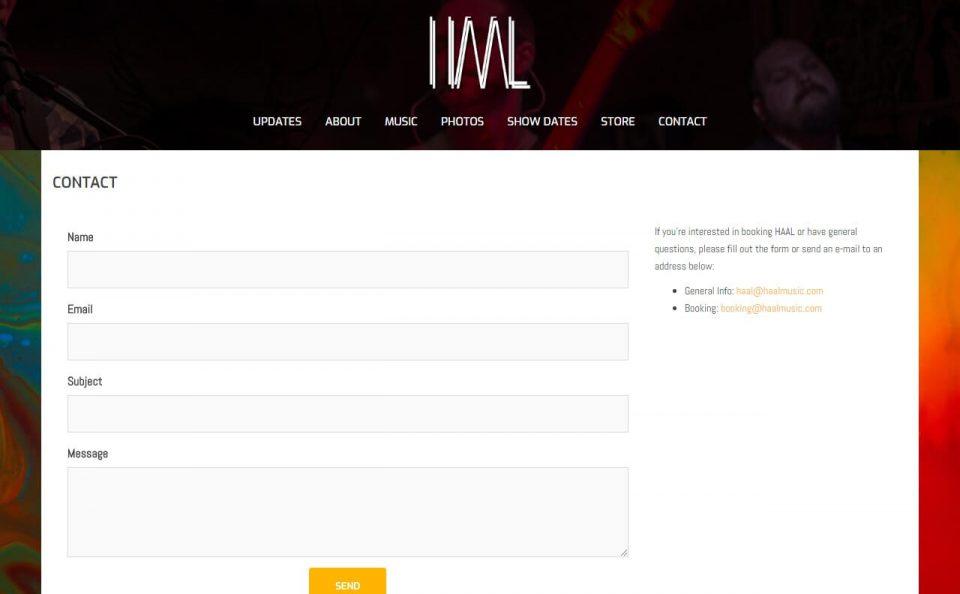 HAALのWEBデザイン