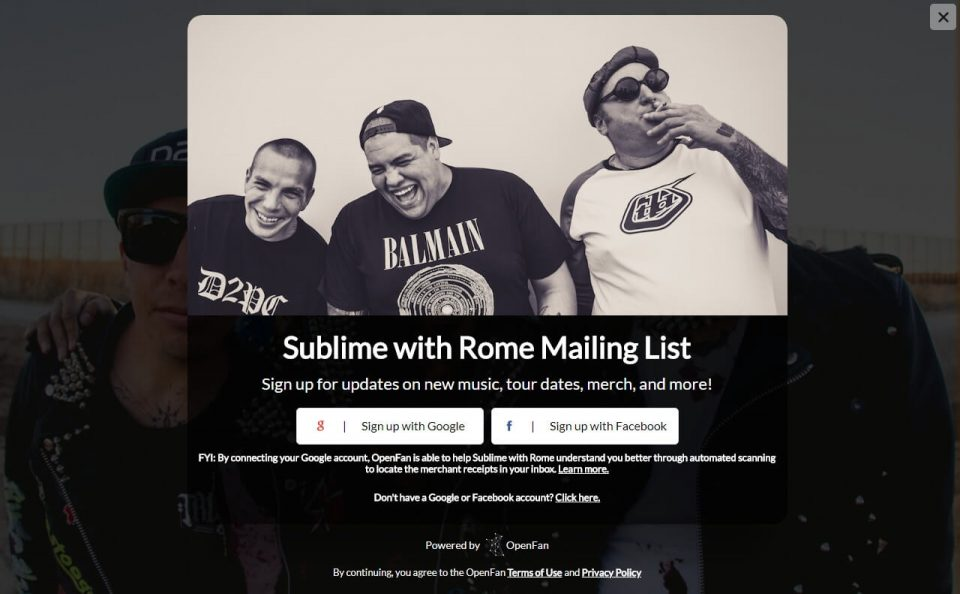 Sublime With RomeのWEBデザイン