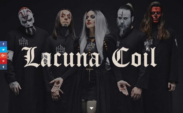 Lacuna Coil Official | lacuna coil band | tourdates | gigs | info | deliriumのWEBデザイン