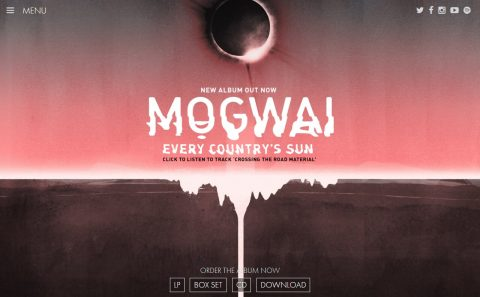 Mogwai : Official WebsiteのWEBデザイン