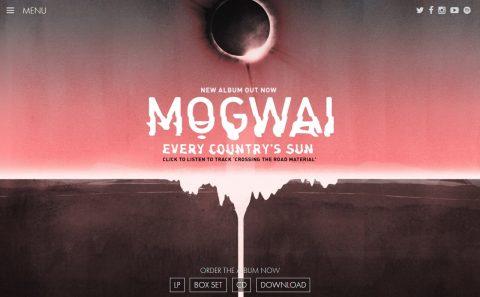Mogwai : Official WebsiteのWEBデザイン