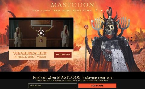 Mastodon Official WebsiteのWEBデザイン