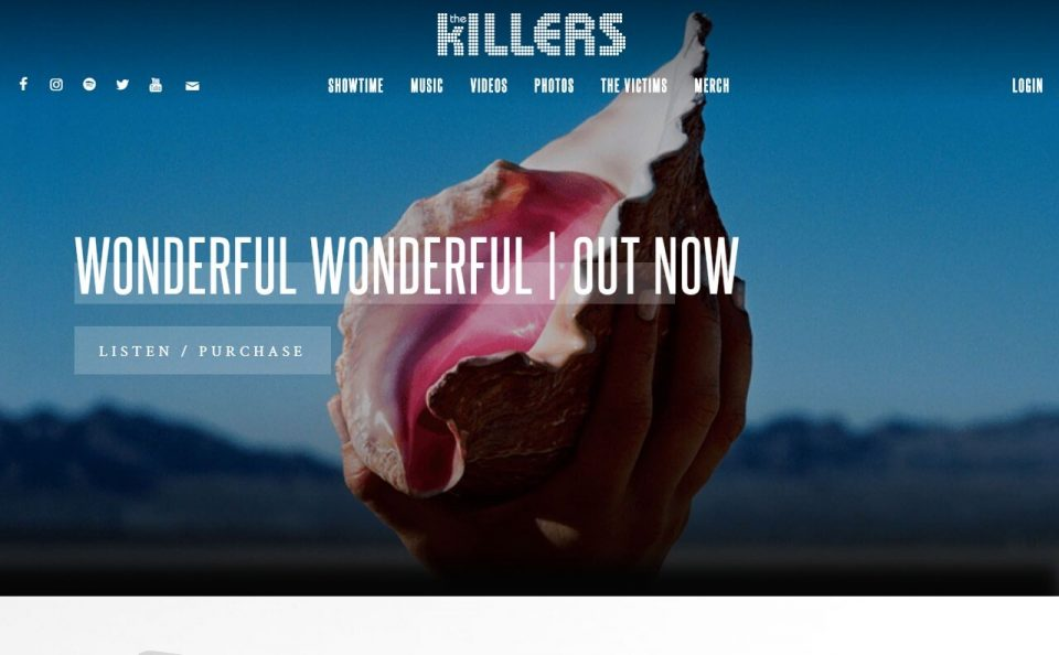 The Killers | Official SiteのWEBデザイン